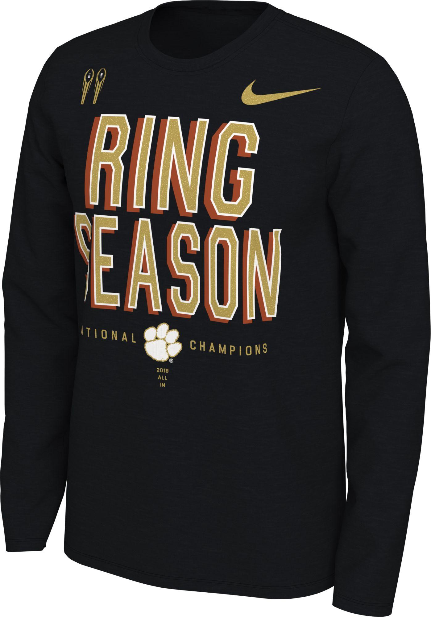 d7f5f8bb Nike Men's 2018 National Champions Clemson Tigers Locker Room Long ...