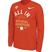 Nike Men's 2018 National Champions Clemson Tigers Celebration Long Sleeve Shirt