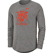 Nike Men's Clemson Tigers Grey Marled Raglan Long Sleeve T-Shirt
