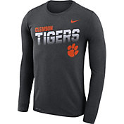 Nike Men's Clemson Tigers Grey Legend Football Sideline Long Sleeve T-Shirt