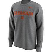Nike Men's Clemson Tigers Grey Lockup Long Sleeve Shirt