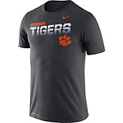 Nike Men's Clemson Tigers Grey Legend Football Sideline T-Shirt