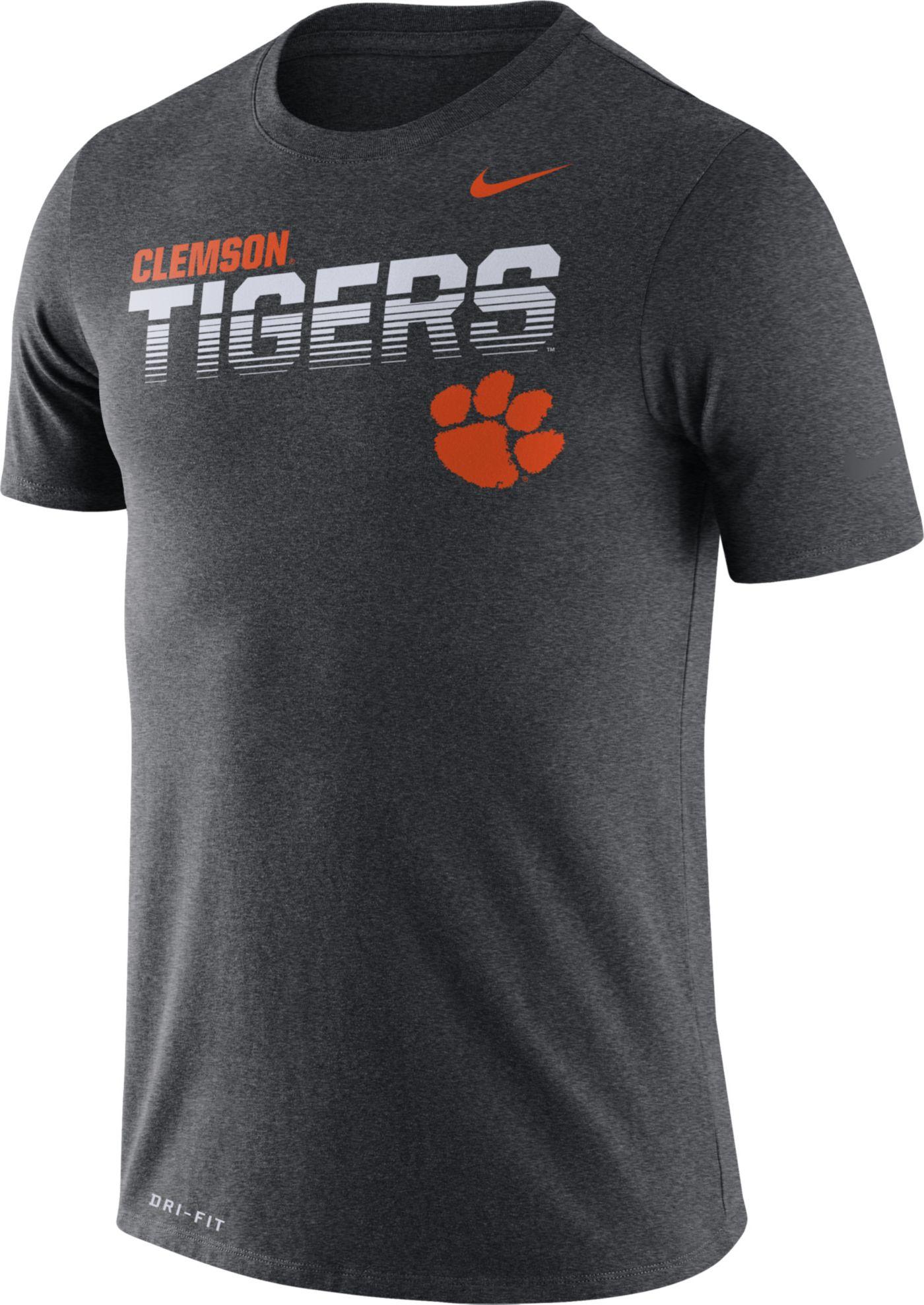 Nike Men's Clemson Tigers Grey Legend Football Sideline T-Shirt
