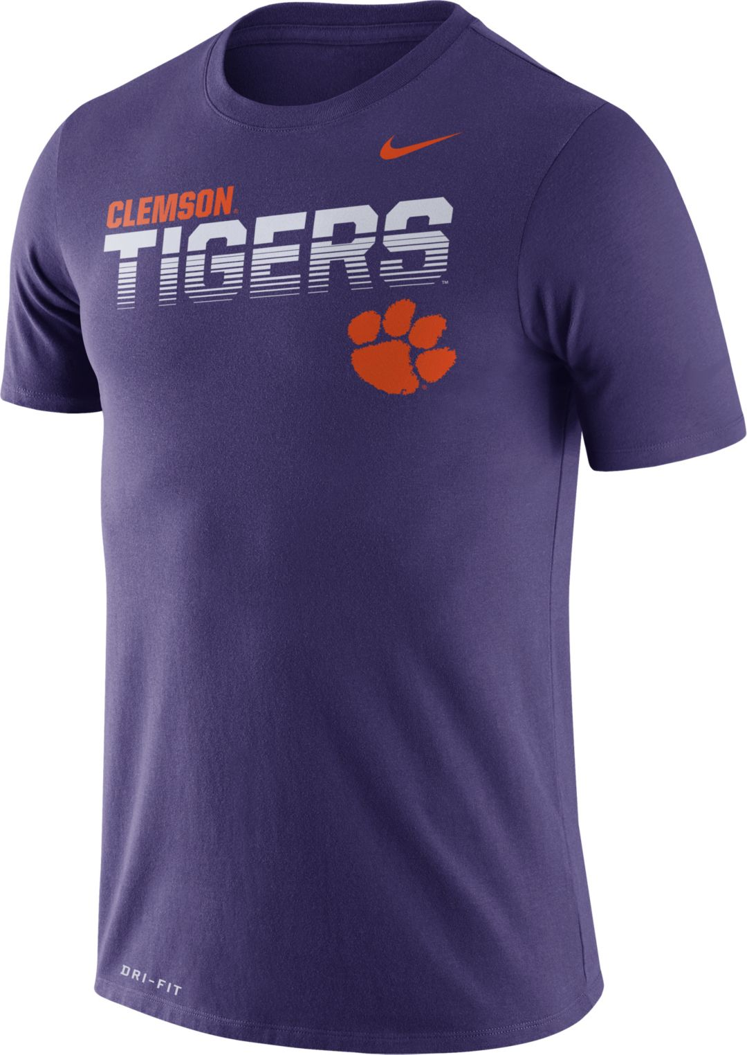 buy popular 34f41 53ee5 Nike Men's Clemson Tigers Purple Legend Football Sideline T-Shirt