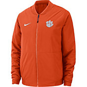 Nike Men's Clemson Tigers Orange Bomber Full-Zip Jacket
