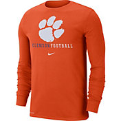 Nike Men's Clemson Tigers Orange Football Icon Wordmark Long Sleeve T-Shirt