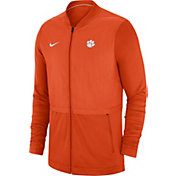 Nike Men's Clemson Tigers Orange Elite Hybrid Football Full-Zip Jacket