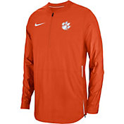 Nike Men's Clemson Tigers Orange Lockdown Football Quarter-Zip Jacket