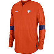 Nike Men's Clemson Tigers Orange Lockdown Half-Zip Football Jacket