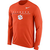 Nike Men's Clemson Tigers Orange Velocity Legend Graphic Long Sleeve T-Shirt