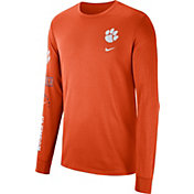 Nike Men's Clemson Tigers Orange Dri-FIT Elevated Basketball Long Sleeve Shirt