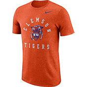 Nike Men's Clemson Tigers Orange Marled Raglan T-Shirt