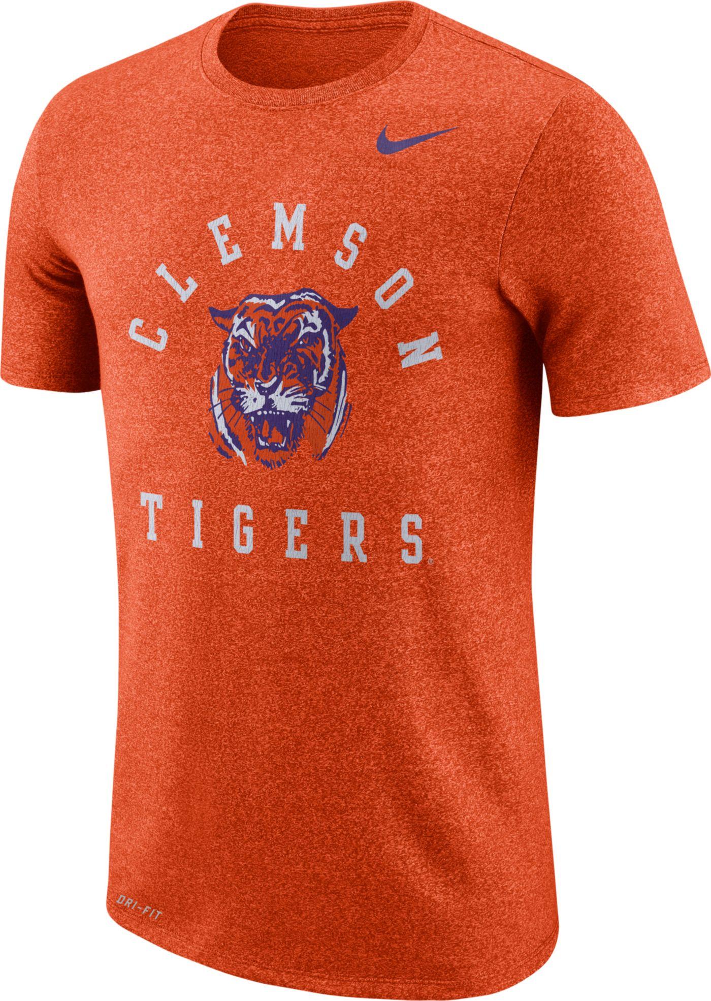 Nike Men's Clemson Tigers Orange Marled Raglan T-Shirt