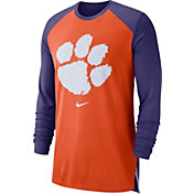 Nike Men's Clemson Tigers Orange/Regalia Breathe Long Sleeve Shirt