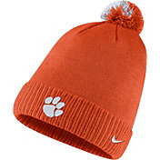 Nike Men's Clemson Tigers Orange Football Sideline Pom Beanie