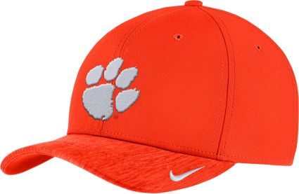0872eb305e4 Nike Men s Clemson Tigers Orange Aerobill Swoosh Flex Classic99 Football  Sideline Hat. noImageFound