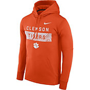 Nike Men's Clemson Tigers Orange Therma-FIT Pullover Sideline Hoodie