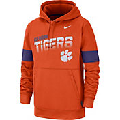 Nike Men's Clemson Tigers Orange Therma Football Sideline Pullover Hoodie