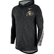 Nike Men's Colorado Buffaloes Cotton Long Sleeve Hoodie Black T-Shirt