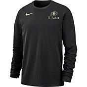 Nike Men's Colorado Buffaloes Dri-FIT Modern Long Sleeve Crew Neck Black T-Shirt