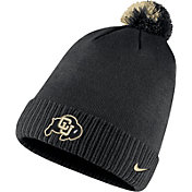 Nike Men's Colorado Buffaloes Football Sideline Pom Black Beanie