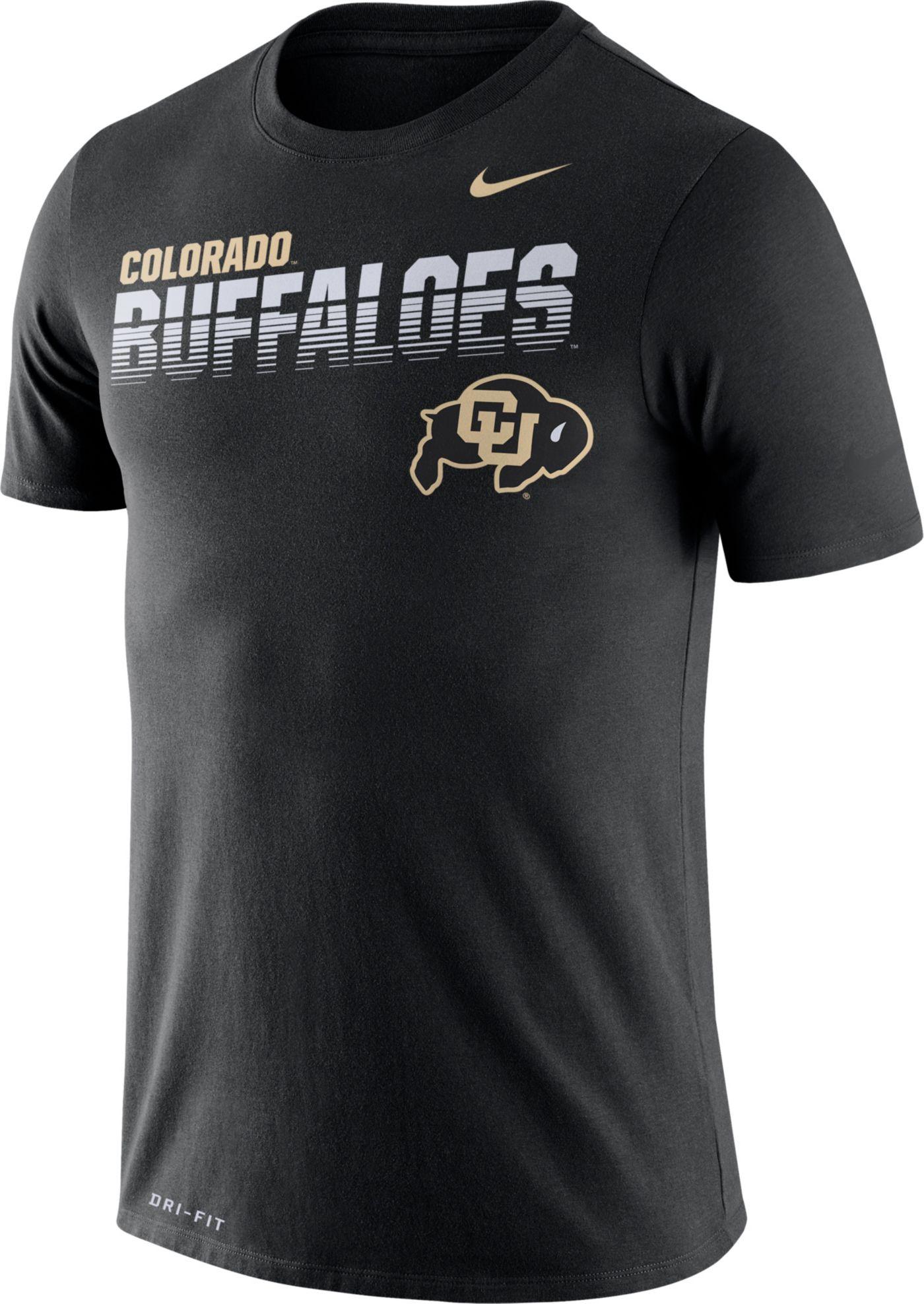 Nike Men's Colorado Buffaloes Legend Football Sideline Black T-Shirt