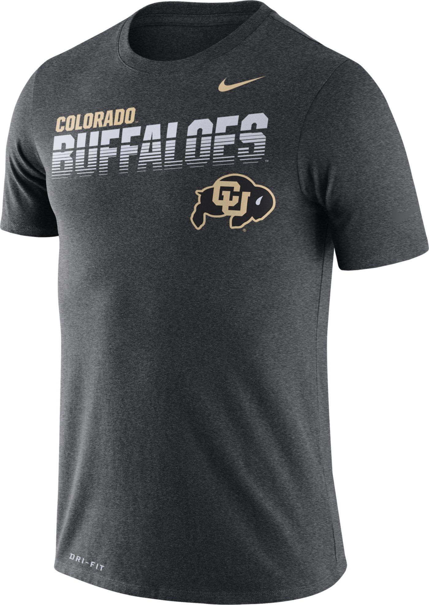Nike Men's Colorado Buffaloes Grey Legend Football Sideline T-Shirt