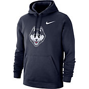 Nike Men's UConn Huskies Blue Club Fleece Pullover Hoodie