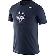Nike Men's UConn Huskies Blue Logo Dry Legend T-Shirt