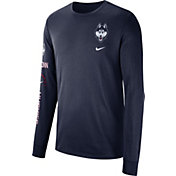 Nike Men's UConn Huskies Blue Dri-FIT Elevated Basketball Long Sleeve Shirt