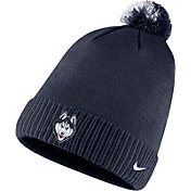 Nike Men's UConn Huskies Blue Football Sideline Pom Beanie