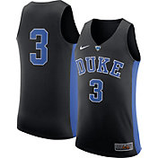 Nike Men's Duke Blue Devils #3 Black Authentic ELITE Basketball Jersey