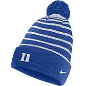 Nike Men's Duke Blue Devils Duke Blue Football Sideline Cuffed Pom Beanie