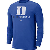 Nike Men's Duke Blue Devils Duke Blue Football Icon Wordmark Long Sleeve T-Shirt