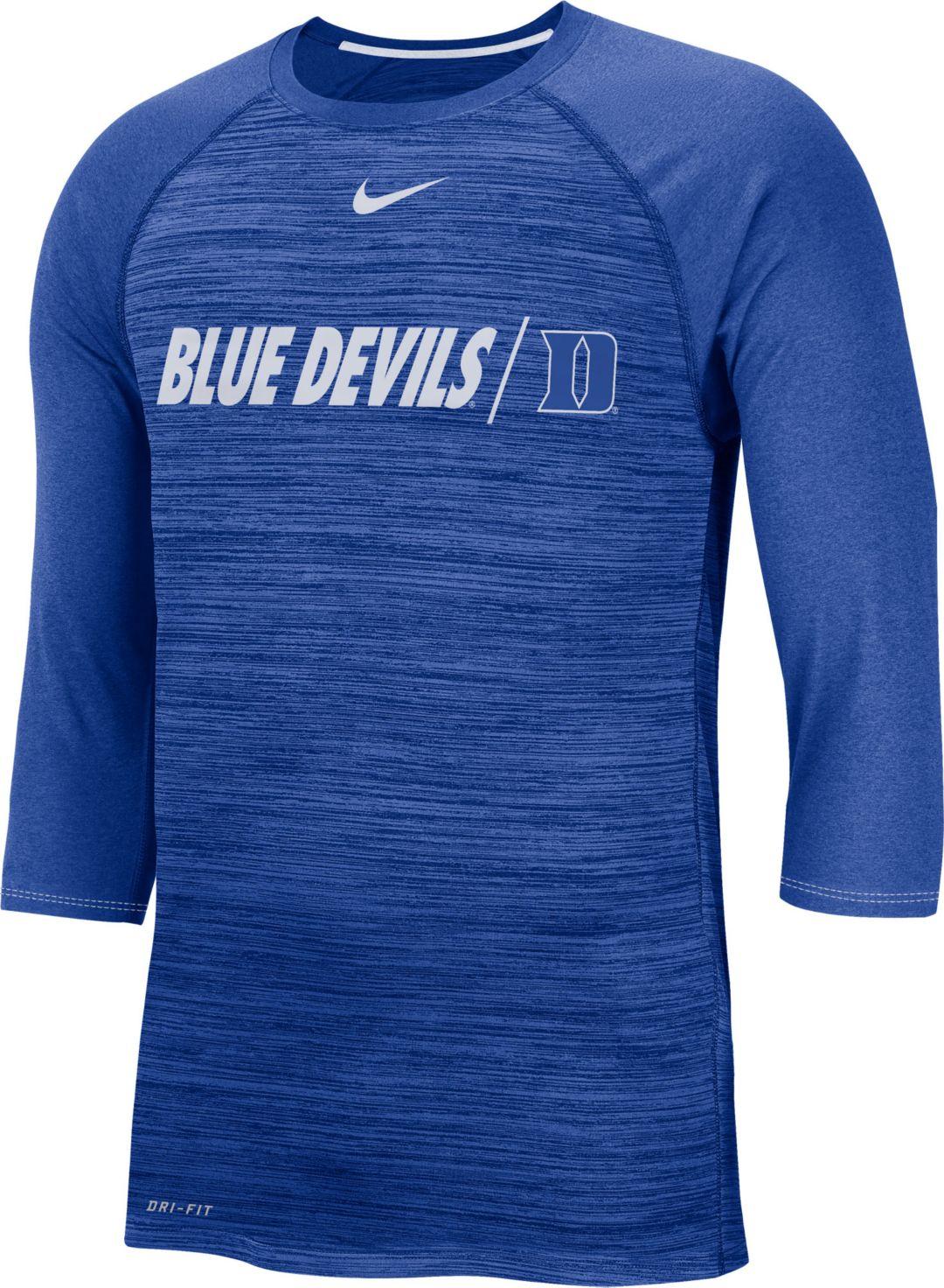best website 116b8 8e8ee Nike Men's Duke Blue Devils Duke Blue Dry Legend 3/4 Sleeve T-Shirt