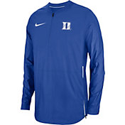 Nike Men's Duke Blue Devils Duke Blue Lockdown Football Quarter-Zip Jacket