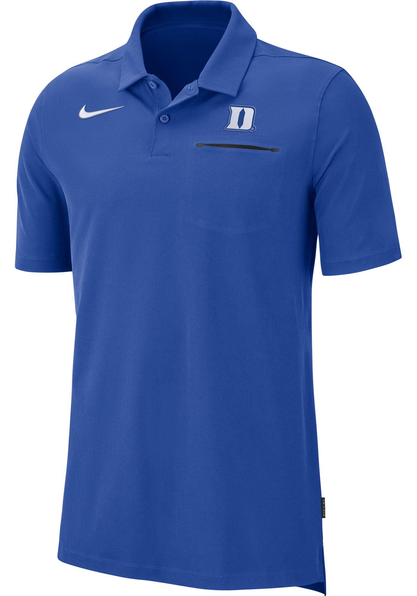 Nike Men's Duke Blue Devils Duke Blue Dri-FIT Elite Football Sideline Polo