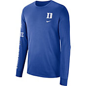 Nike Men's Duke Blue Devils Duke Blue Dri-FIT Elevated Basketball Long Sleeve Shirt