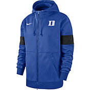 Nike Men's Duke Blue Devils Duke Blue Therma Football Sideline Full-Zip Hoodie