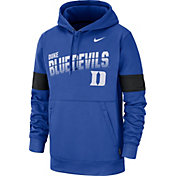 Nike Men's Duke Blue Devils Duke Blue Therma Football Sideline Pullover Hoodie