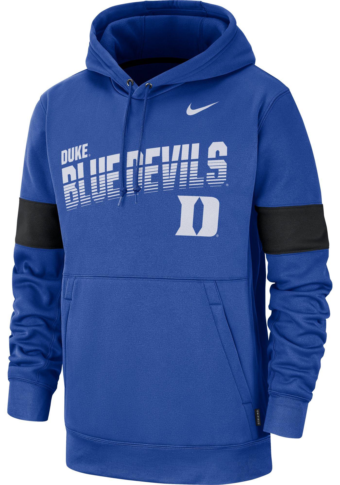 Nike Men's Duke Blue Devils Duke Blue Therma Football Sideline Pullover Hoodie