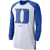 Nike Men's Duke Blue Devils White/Duke Blue Breathe Long Sleeve Shirt