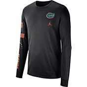 Jordan Men's Florida Gators Dri-FIT Elevated Basketball Black Long Sleeve Shirt