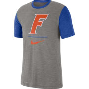 Nike Men's Florida Gators Grey Dri-FIT Baseball Slub T-Shirt