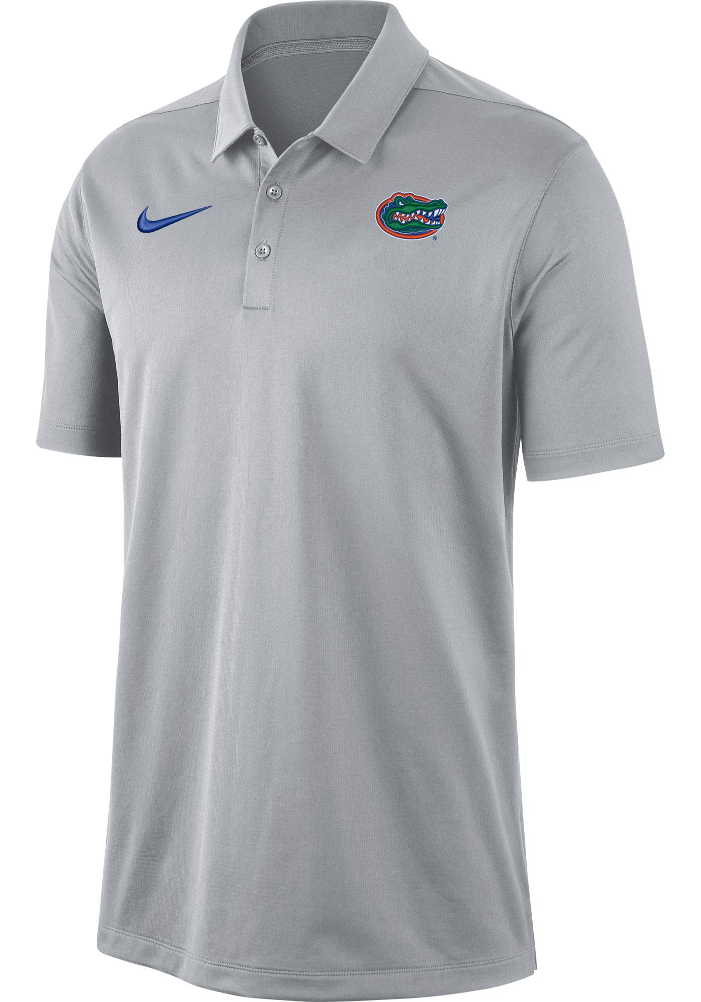 Nike Men's Florida Gators Grey Dri-FIT Franchise Polo
