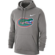 Nike Men's Florida Gators Grey Club Fleece Pullover Hoodie