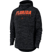 Nike Men's Florida Gators Black Heathered Dri-FIT Spotlight Pullover Hoodie