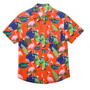 FOCO Men's Florida Gators Orange Floral Button-Up Shirt