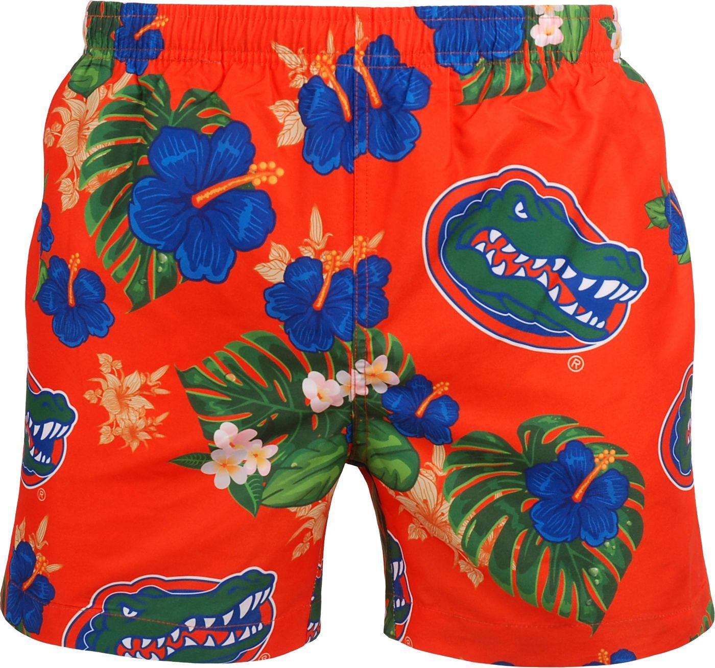FOCO Men's Florida Gators Orange Floral Shorts