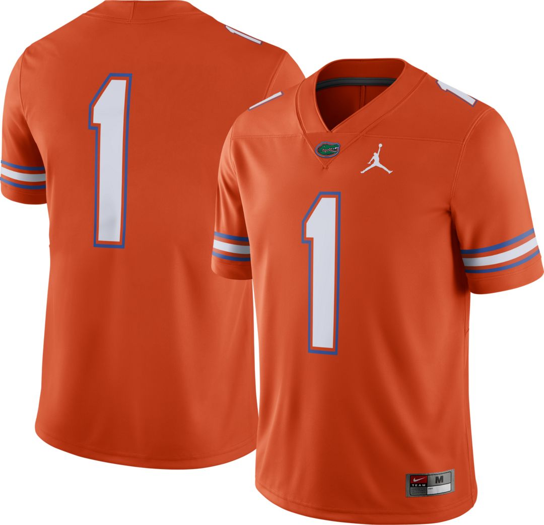 promo code e56d5 a1263 Jordan Men's Florida Gators #1 Orange Dri-FIT Game Football Jersey
